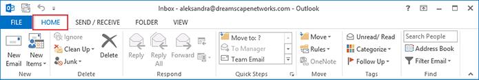 configure junk folder in outlook access 2013 step 2