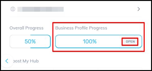 open button to access SEO business profile via OMH
