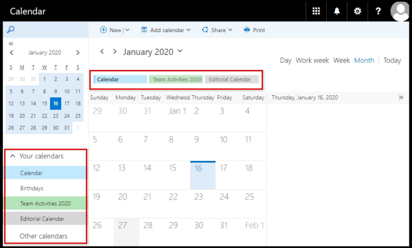 calendar to be displayed on viewing pane via OWA