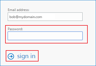 changing your password using Web Access step 5