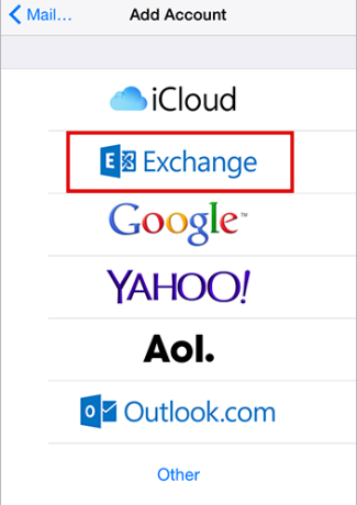 MS Email Exchange setup instructions for iPhone and iPad step 4