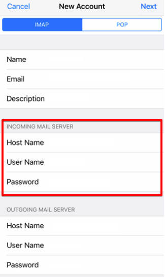 setting up iOS devices to check your email step 8