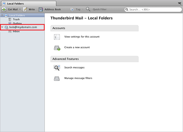 thunderbird for mac setup step 8