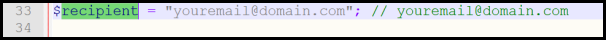 editing formMail.php recipient variable