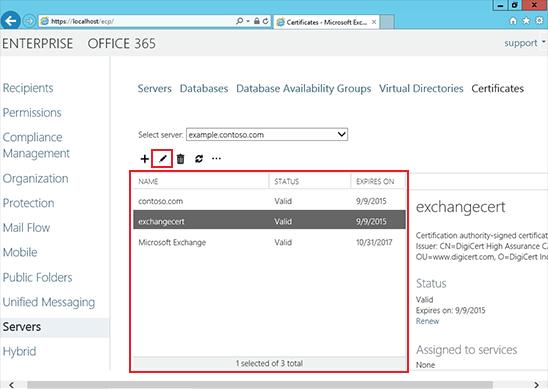 Install an SSL Certificate on an Exchange 2013 server step 9