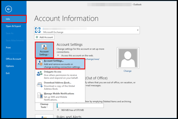 how to set cached exchange mode on outlook