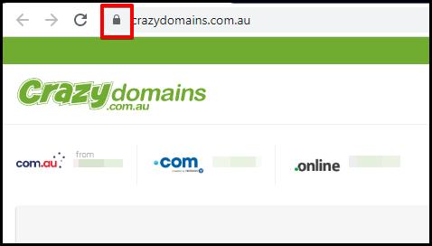 padlock icon on web address bar indicator of a secured website