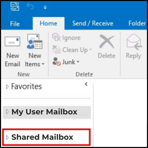 access shared mailbox on outlook desktop